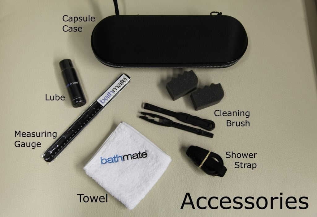 accessories included in the Bathmate bundle option
