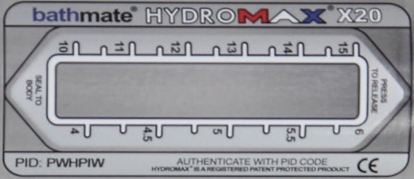 x20 pump label