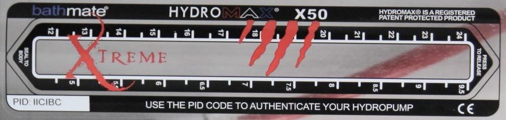 x50 pump label