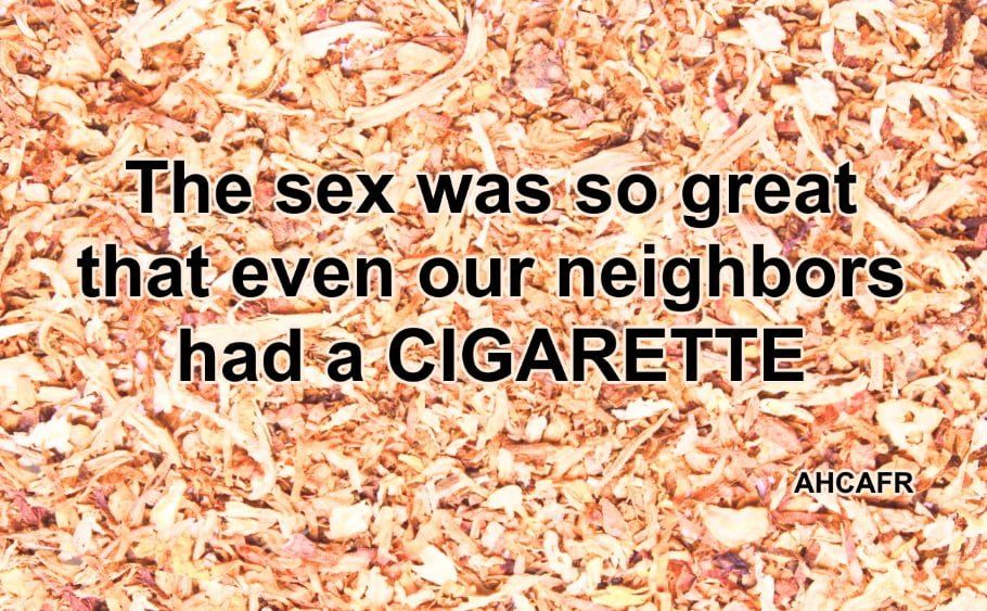 Smoking After Sex