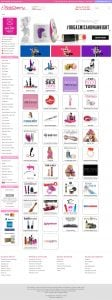 PinkCherry Canada Homepage and categories