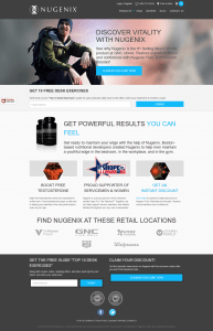 Nugenix official website homepage
