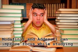 modafinil and adderall can improve focus while studying