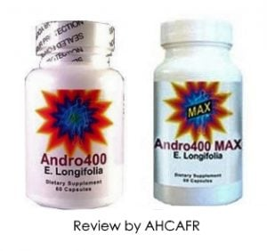 andro 400 and andro 400 max bottles