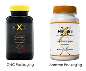 noxitril different packaging on amazon and GNC