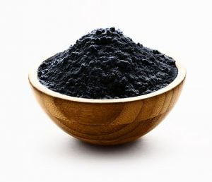 shilajit powder in a bowl
