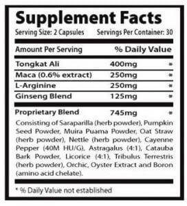 noxitril ingredients list