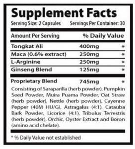 noxitril ingredients list