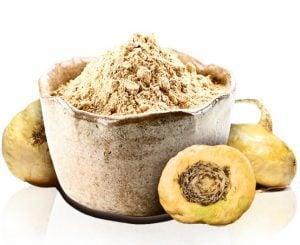 yellow maca root and powder