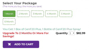 genf20 plus packages options