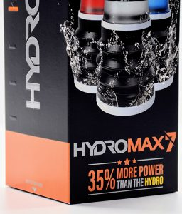 hydromax7 box featuring more power